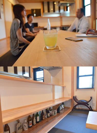 一枚ものの長いテーブルがお気に入り