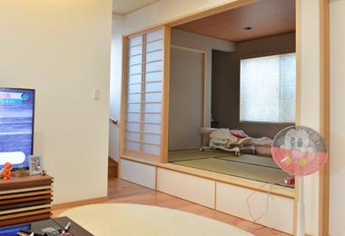 超機能的な畳の部屋の段差